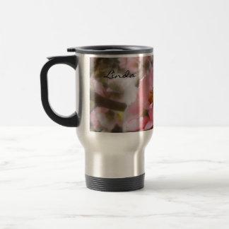Membrillo floreciente personalizado tazas de café