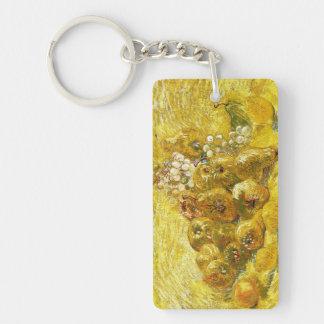 Membrillos, limones, peras y uvas Vincent van Gogh Llavero Rectangular Acrílico A Doble Cara