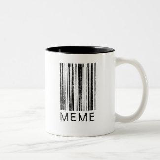 Meme Barcode Two-Tone Coffee Mug