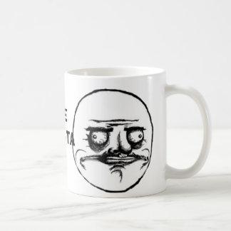 Meme del Internet de los tebeos de la cara de la r Tazas De Café