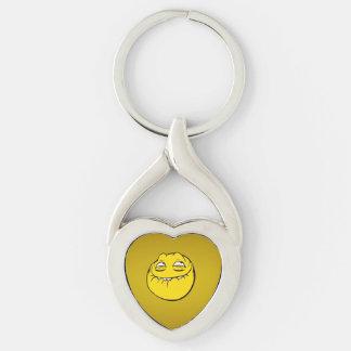 Meme Face Smiley Emoticon Yelow Funny Head Troll Keychain