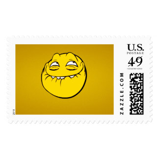 Meme Face Smiley Emoticon Yelow Funny Head Troll Stamp