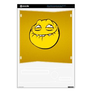 Meme Face Smiley Emoticon Yelow Funny Head Troll Xbox 360 S Console Skin