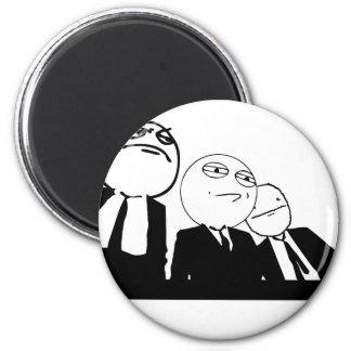 meme gang 2 inch round magnet