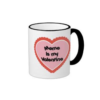 Meme is My Valentine Ringer Mug