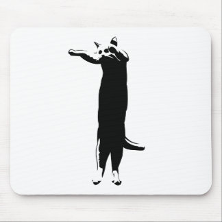 Meme largo del gato alfombrillas de raton