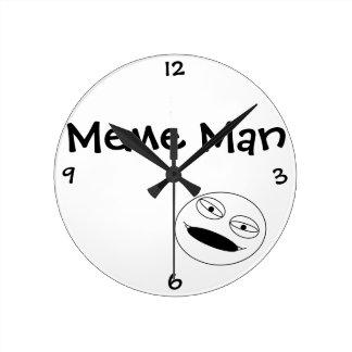 Meme Man - Clock