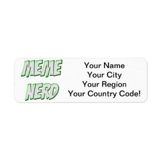 Meme Nerd Green Label