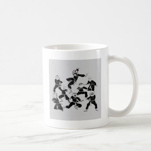 meme ninja gang basic white mug