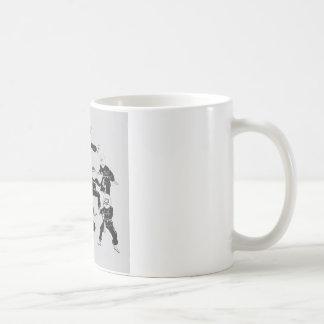 meme ninja gang classic white coffee mug