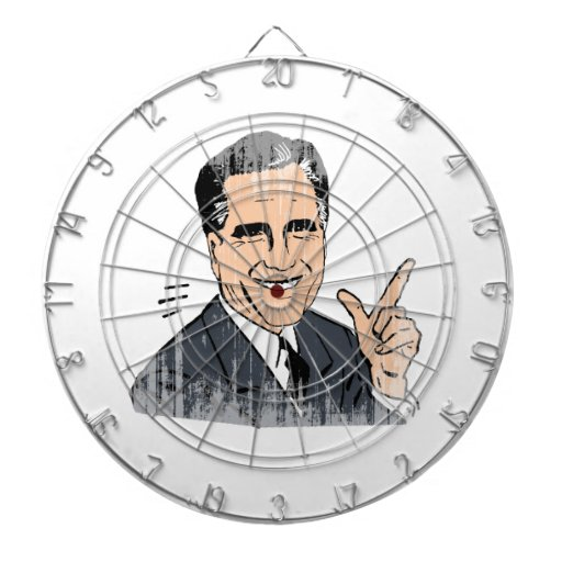 Meme Romney Dartboard With Darts