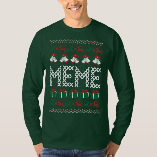 Funny Ugly Sweater Meme : Funny meme ugly christmas sweater t shirts