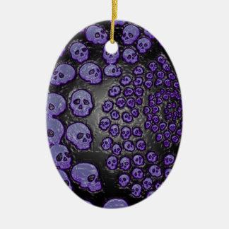 Memento Amare -PurpleSkullSpiral Ceramic Ornament