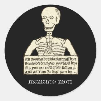 Memento Mori Classic Round Sticker