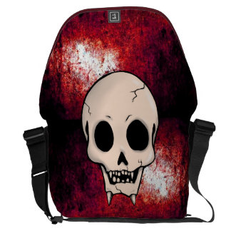 Memento Mori Demon Skull Messenger Bag