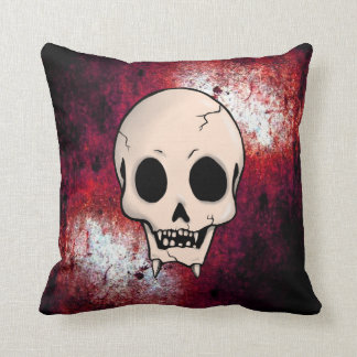 Memento Mori Demon Skull Throw Pillow