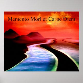 Memento Mori et Carpe Diem Scifi Poster
