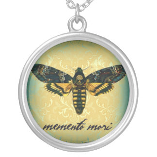 Memento Mori Moth Necklace