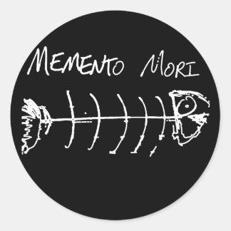 Memento Mori Round Sticker