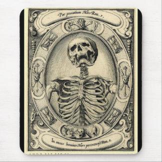 Memento Mori Skeleton Gothic Mousepad - Customized