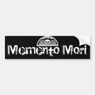 Memento Mori Winged Death Skull Bumpersticker Bumper Sticker
