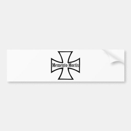 memento mortis cross icon bumper stickers