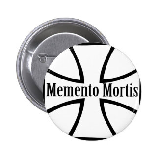 memento mortis cross icon pinback button