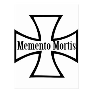 memento mortis cross icon postcard