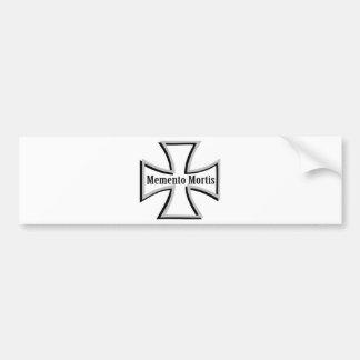 memento mortis double cross icon bumper sticker