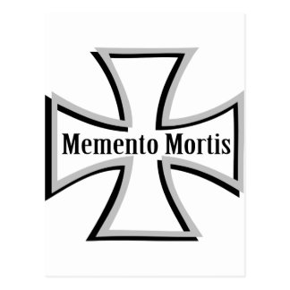 memento mortis double cross icon postcard