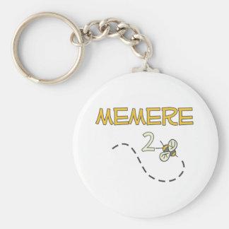Memere 2 Bee Basic Round Button Keychain