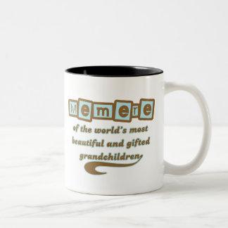 Memere de nietos dotados tazas de café
