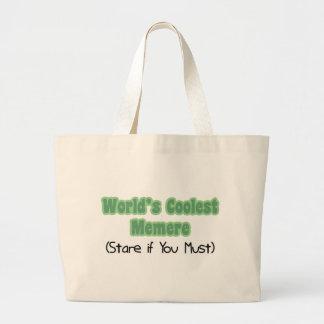 Memere más fresco del mundo bolsa tela grande