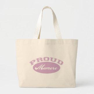 Memere orgulloso bolsa tela grande