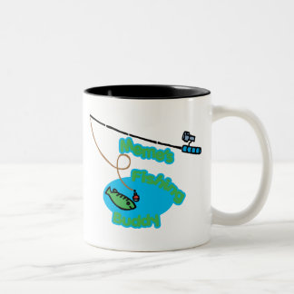 Meme's Fishing Buddy Two-Tone Coffee Mug