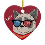 Memes-House- cat Ceramic Ornament