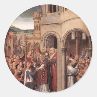 Memling-Llegada de Hans de Santa Ursula y de Pegatina Redonda