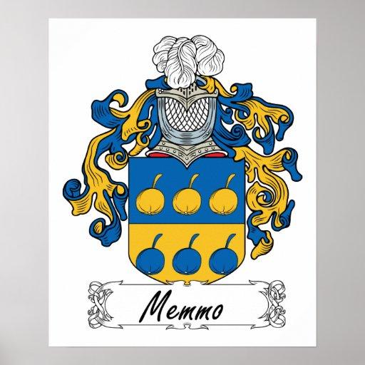Memmo Family Crest Poster