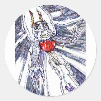 memnoch the imp round sticker