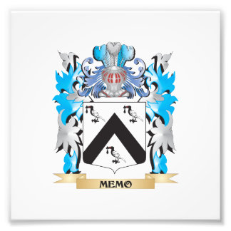 Memo Coat of Arms - Family Crest Photo Print