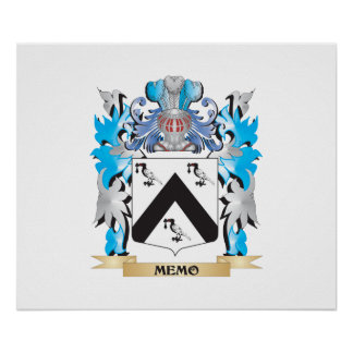 Memo Coat of Arms - Family Crest Posters