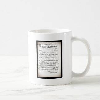 Memo from Hydrographic Office Titanic Disaster Coffee Mug