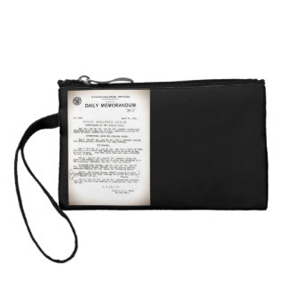 Memo from Hydrographic Office Titanic Disaster Coin Wallet