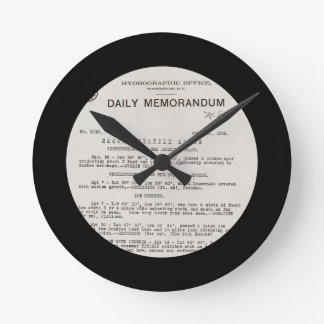 Memo from Hydrographic Office Titanic Disaster Round Clock