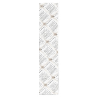 Memo from Hydrographic Office Titanic Disaster Short Table Runner