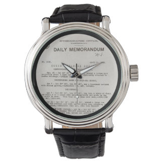 Memo from Hydrographic Office Titanic Disaster Wrist Watch