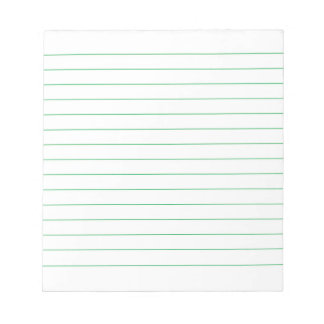 Memo Pad with Business Green Lines