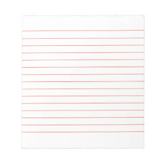 Memo Pad with Lines Business Lined Red Classic