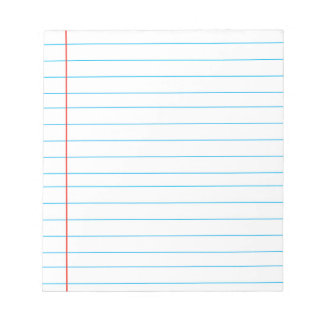 Memo Pad with Lines Business Red Lined Ruler