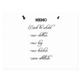 Memo Postcard